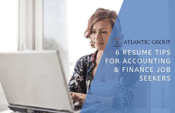 accounting and finance resume writing tips